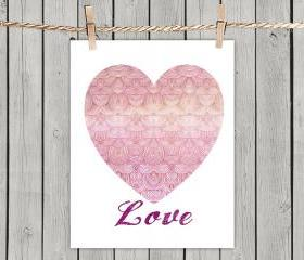 Poster Print 8x10 - Love, The Universal Language - For Your Wall Decor