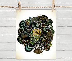 Poster Print 8x10 - Multicultural Life - of Fine Art Illustration for Your Wall Decor