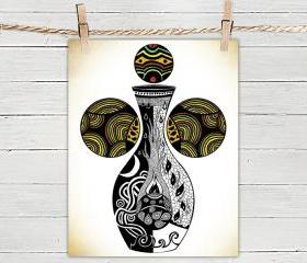 Vase of Life - Poster Print 8x10 - of Fine Art Illustration for Your Wall Decor