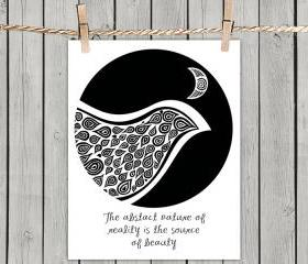 Bird In Disguise Nature Quote - Poster Print 8x10 - of Fine Art Illustration for Your Wall Decor