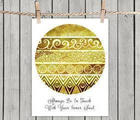 Tribal Evolution Quote Yellow - Poster Print 8x10 - of Fine Art illustration for Your Wall Decor