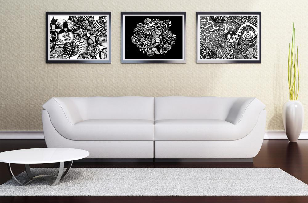 Black And White Wall Art printable wall art poster diy - 3 black & white sale on luulla
